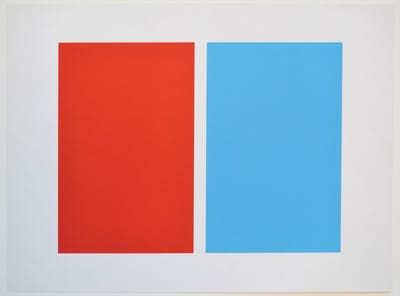 John McLaughlin, Untitled (1963), lithograph, Tamarind Lithography Workshop, Los Angeles, collection of Palm Springs Art Museum, gift of Mr. and Mrs. Benjamin B. Smith