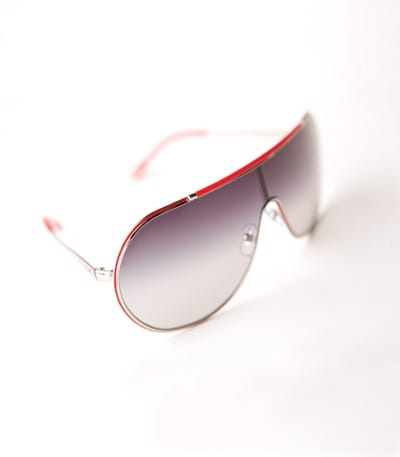 If you must get pulled over for speeding, do it in this D&G aviator shield, as sexy as a red Ferrari. $150. Saks Fifth Avenue, The Gardens on El Paseo, Palm Desert.