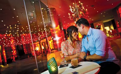 The swanky Starlite Lounge at Riviera Palm Springs serves up classic cocktails and soothing nightcaps.