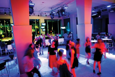 At Stir, located at Renaissance Esmeralda Resort and Spa in Indian Wells, revelers dance and enjoy dazzling drinks and atmosphere.