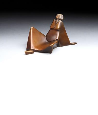 "Carol Gold's ""Sun Lazing,"" bronze, 4 inches"