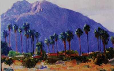 "John Eagle's ""San Jacinto Morning,"" oil on canvas, 24x26 inches"