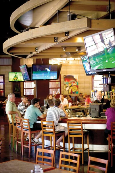 The Yard House at The River at Rancho Mirage has a large selection of draft beers, a diverse menu of American fare, and a state-of-the-art sound system.