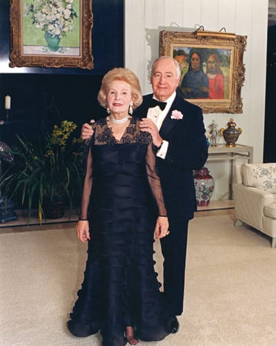 Leonore and Walter Annenberg are ready to celebrate New Year's Eve 1988 at Sunnylands.