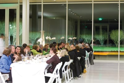 Even before opening to the public, Sunnylands has hosted gatherings, including Palm Springs Art Museum's Architecture and Design Council, Palm Springs International Film Festival, and Meetings That Make a Difference. Participants in the latter included (left) scholars Adam Clayton Powell III and Jonathan Aronson and (below) former NAACP Chairman Julian Bond.
