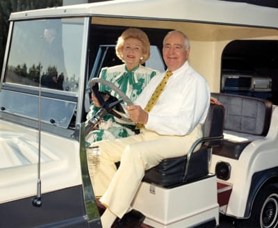Leonore and Walter Annenberg were dressed here not for playing a round of golf but, rather, for the March 1988 visit of Prince Andrew to Sunnylands.