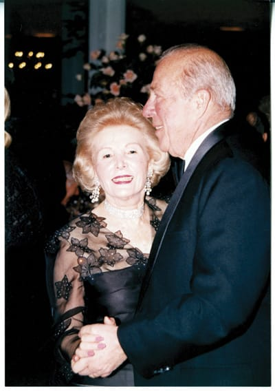 Leonore Annenberg dances with then Secretary of State George Shultz on New Year's Eve 1988 at Sunnylands.
