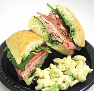 Bob Hope Classic sandwich available at Jensen's Minute Shoppe in Rancho Mirage, which specializes in sandwiches named after desert celebrities and icons.