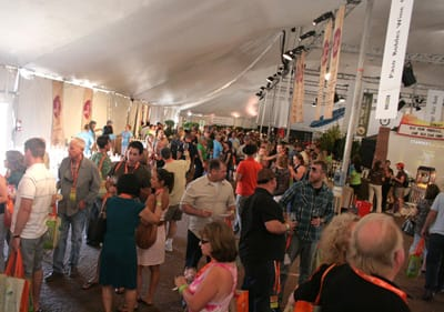 The Central Coast Pavilion featured wineries, restaurants, local tourism representatives, and a bookstore.