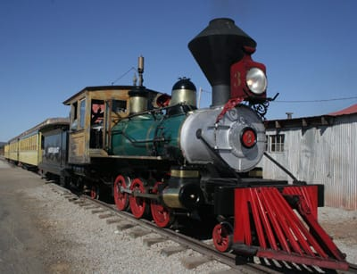 Festival-goers could ride in a steam-engine train created for Walt Disney's original Disneyland in 1955.