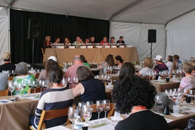 """Eight Paso Robles winemakers talked about their multiple-varietal wines in a """"Crazy Blends"""" seminar."""