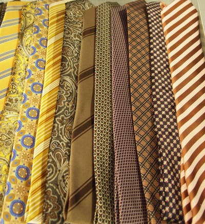 Mensties: Men's ties featured prominently at Last Call by Neiman Marcus.