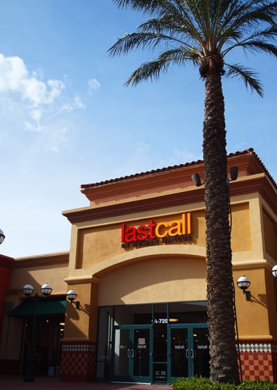 LastCallExterior: The store is conveniently located at the north end of Desert Hills Premium Outlets.