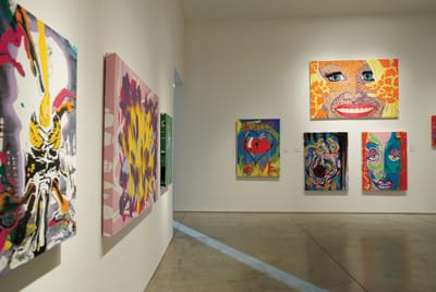 Actor Jim Carrey's first solo art exhibition, Nothing to See Here.