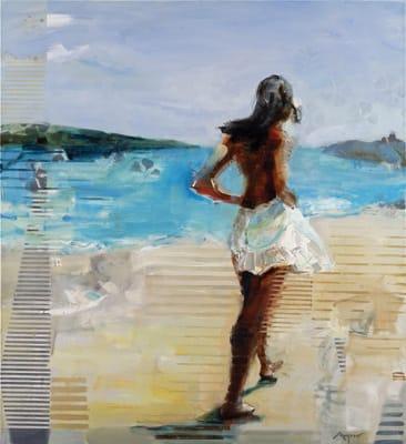 Gosia At Sea by Michael Azgour