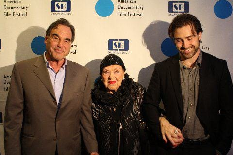 Oliver Stone, Mother Jacqueline and Son Sean.