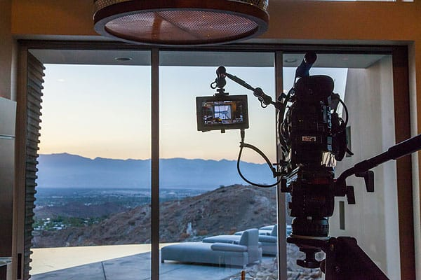 HGTV's <em>Million Dollar Rooms</em> captures the stunning view from the master suite at the Mirada residence in Rancho Mirage.