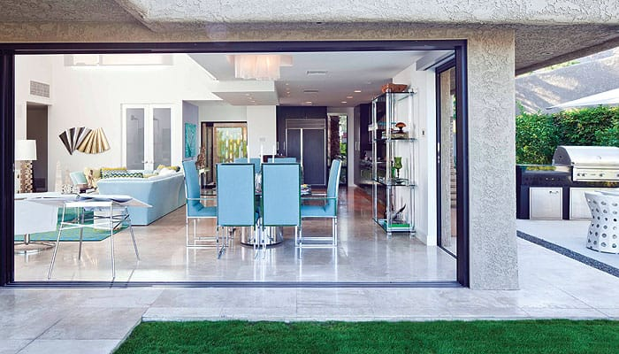Nothing expands living space like tearing down walls to take advantage of the outdoors. Blur the boundaries by removing barriers. Replace a wall with retractable glass  ($50,000).