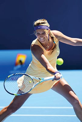 """Women's tennis is deep nowadays,"" Victoria Azarenka says. ""There are a lot of up-and-coming young players. Every player is a threat."""