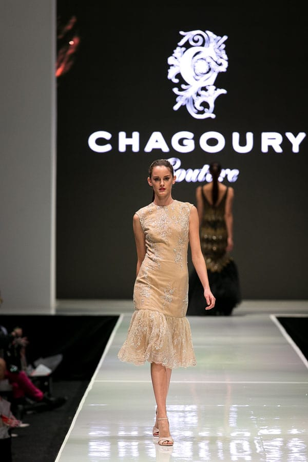 Gilbert Chagoury of Chagoury Couture debuts his spring 2013 collection of red carpet-worthy designs. The Dior-trained Beverly Hills couturier uses the finest fabrics to create exciting designs.