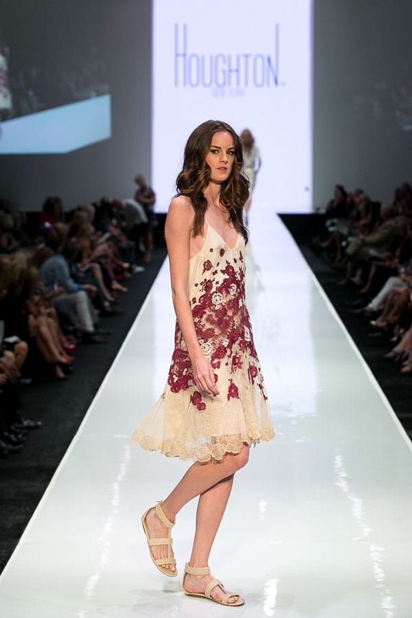 Inspired by London street art and American fashion icons like Katharine Hepburn and Bianca Jagger, designer Katharine Polk's spring collection for Houghton New York wowed audiences Friday night at Fashion Week El Paseo