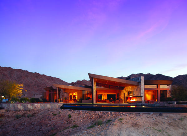THE $10-MILLION VIEW - Working with an elevated site on almost two acres in the middle of Bighorn Golf Club, architect Kristi Hanson created a design that takes advantage of 360-degree views of its Palm Desert surrounding.