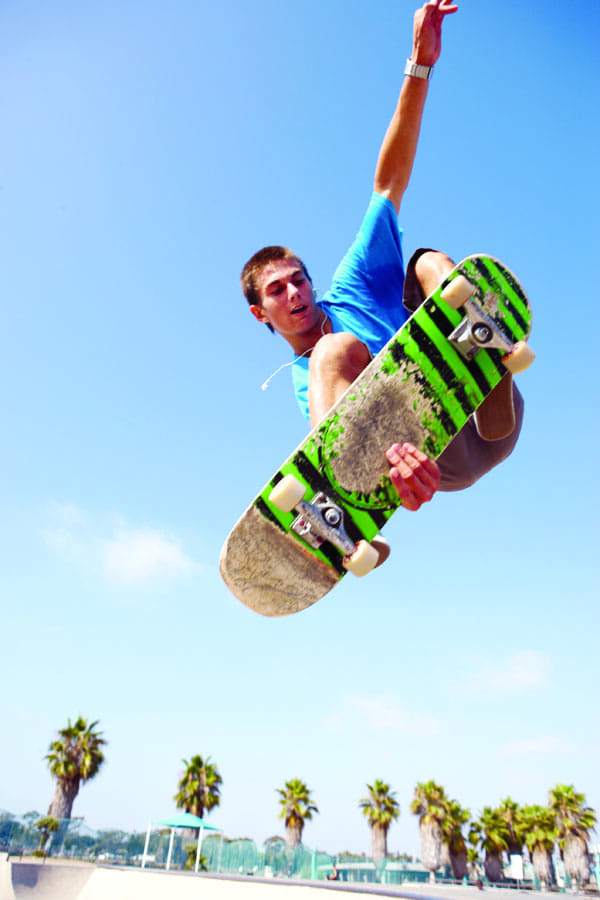 Catch air at Palm Springs Skate Park.