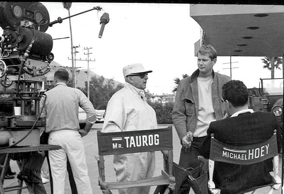 On the set with Norman Taurog and Troy Donahue.