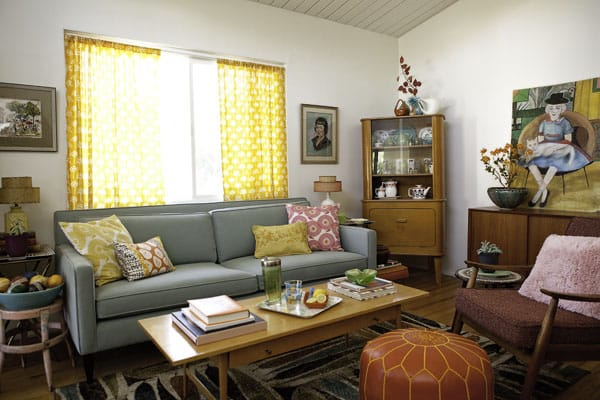 Show off your flair for decorating by hitting the vintage shops.