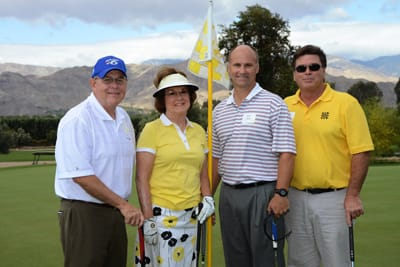 KMIR 6 General Manager Craig Marrs and his foursome teammates were tough competitors! From left to right, Marrs, Indian Wells Mayor Mary T. Roche, Westin Mission Hills Resort & Spa Leisure Sales Manager Gary Orfield, and Sunnylands own Facilities Manager Mike Reeske.