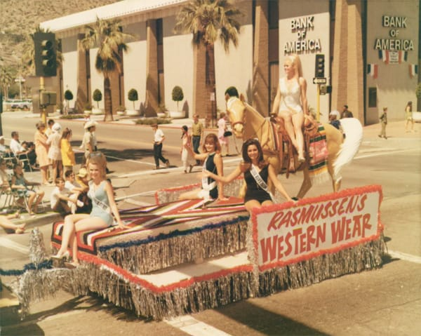 The women of Rasmussen's Western Wear at the Desert Circus parade.