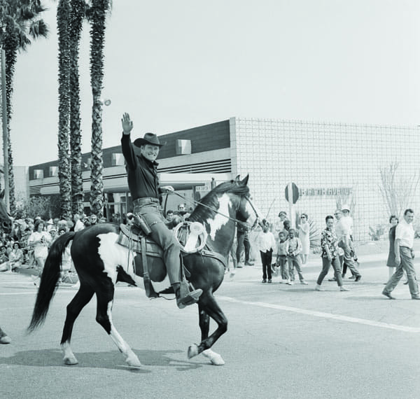 Chuck Connors in the Desert Circus Parade