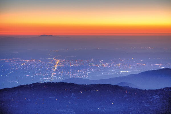 Tom Brewster captures the sunset over the lights of Hemet.