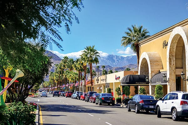 The sophisticated El Paseo shopping district in Palm Desert.