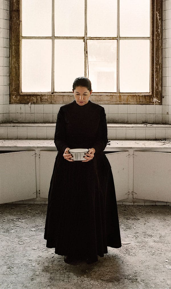 Marina Abramovic's video, The Kitchen V, Carrying the Milk (2009), appears in Personalities: Fantasy and Identity in Photography and New Media at Palm Springs Art Museum in Palm Desert.