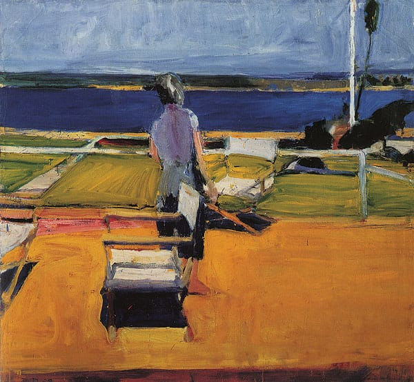 Figure on a Porch (1959) appears in Richard Diebenkorn: The Berkeley Years, 1953-1966 at Palm Springs Art Museum.