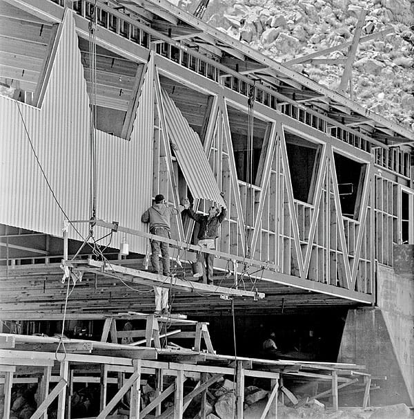 Construction of the Valley Station, 1963.