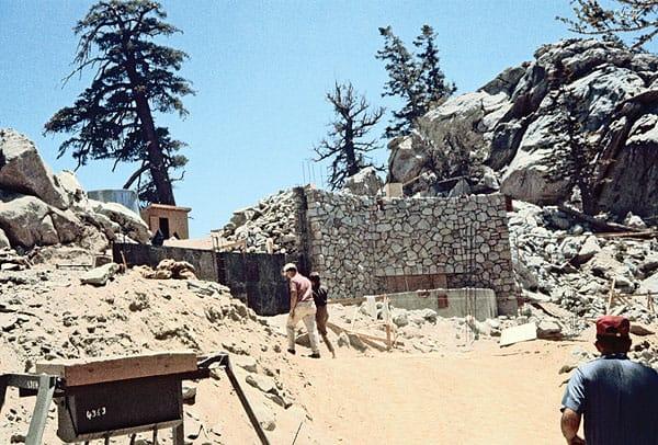 Construction of the Mountain Station, circa 1962.