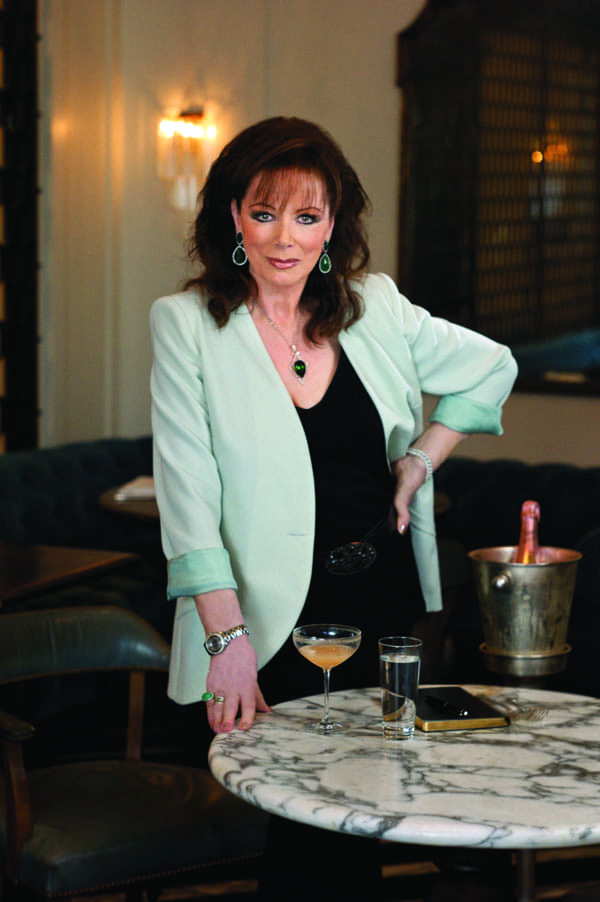 Dining With Jackie - The saucy novelist spills the latest Hollywood gossip at an exclusive dinner benefitting AIDS Assistance Program