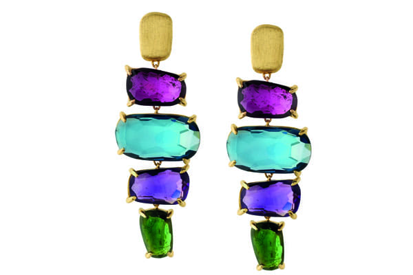 Peeks of green complete any holiday look. Leeds' Siviglia Sapphires, also by Marco Bicego