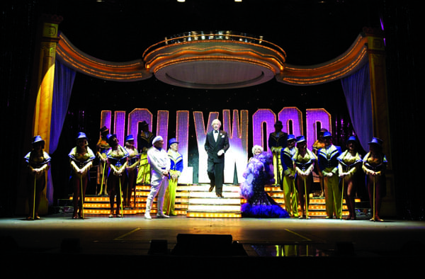 Impresario Riff Markowitz and the cast of The Follies