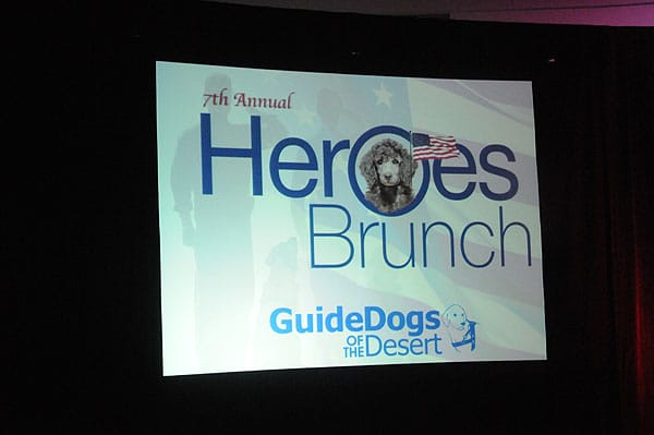 Dusty Wings and Honored at 7th annual Guide Dogs of the Desert Heroes Brunch — Dec. 7, 2013