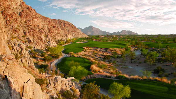 The No. 16 hole at SilverRock Resort in La Quinta