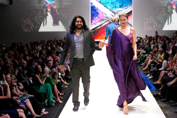 Ahmad Murtaza, a resident of Irvine, Calif., was born in Bangladesh, and has lived in Pakistan, India, Nepal, Dubai, and Canada. His worldly background heavily influenced his womenswear collection.
