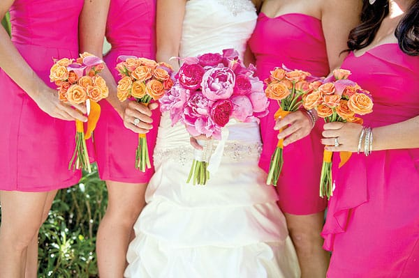 The new neutral wedding colors are as eye-catching as the bright, color-drenched favorites