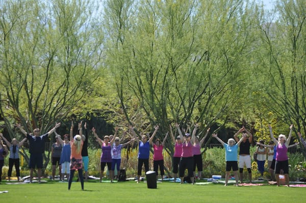 Sunnylands Provides Perfect Backdrop for Yoga Class