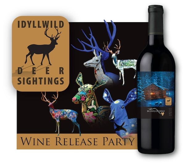 Middle Ridge Winery Pays Tribute to Idyllwild Deer Art