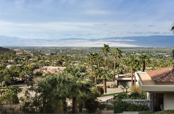 A view of the Coachella Valley from the Thunderbird Heights home.
