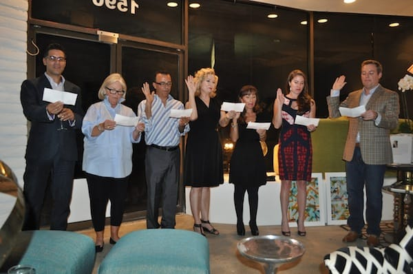 Christopher Kennedy (far left) and his fellow officers of the Palm Springs chapter of the American Society of Interior Designers are sworn in.