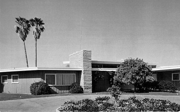 Frank Sinatra's Twin Palms estate, 1947.